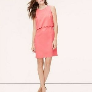 Ann Taylor Scalloped Crop Top Spring Dress